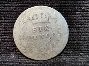 Edward VII, Silver (.925), Sixpence 1907, Poor, AE07